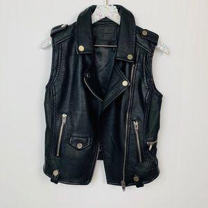 BLANKNYC Sleeveless Moto Vest